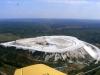 Белая гора вид с самолета