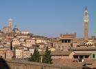 Сиена. Панорама старой Сьены от церкви св. Климента